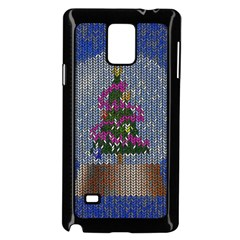 Christmas Snow Samsung Galaxy Note 4 Case (Black)