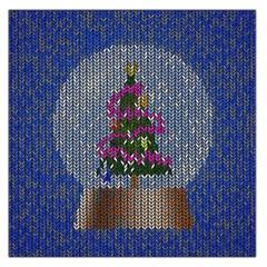 Christmas Snow Large Satin Scarf (Square)
