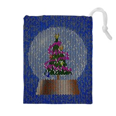 Christmas Snow Drawstring Pouches (Extra Large)