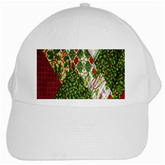 Christmas Quilt Background White Cap