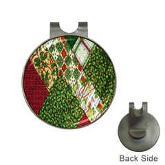 Christmas Quilt Background Hat Clips with Golf Markers