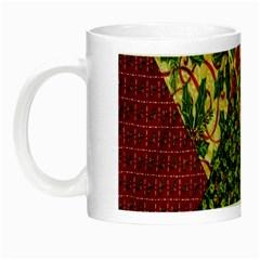 Christmas Quilt Background Night Luminous Mugs