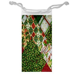 Christmas Quilt Background Jewelry Bag