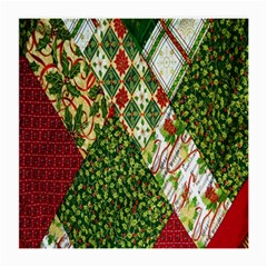 Christmas Quilt Background Medium Glasses Cloth