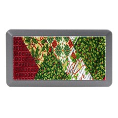 Christmas Quilt Background Memory Card Reader (Mini)