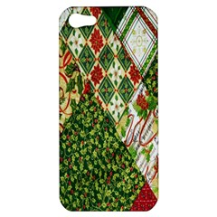 Christmas Quilt Background Apple iPhone 5 Hardshell Case