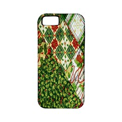 Christmas Quilt Background Apple iPhone 5 Classic Hardshell Case (PC+Silicone)