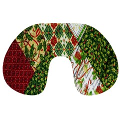 Christmas Quilt Background Travel Neck Pillows