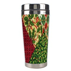 Christmas Quilt Background Stainless Steel Travel Tumblers