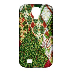 Christmas Quilt Background Samsung Galaxy S4 Classic Hardshell Case (PC+Silicone)