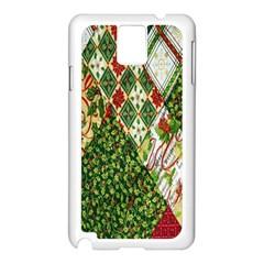 Christmas Quilt Background Samsung Galaxy Note 3 N9005 Case (White)