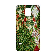 Christmas Quilt Background Samsung Galaxy S5 Hardshell Case