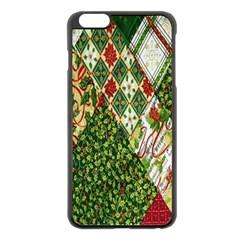 Christmas Quilt Background Apple iPhone 6 Plus/6S Plus Black Enamel Case