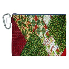 Christmas Quilt Background Canvas Cosmetic Bag (xxl)