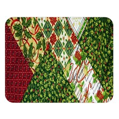 Christmas Quilt Background Double Sided Flano Blanket (Large)