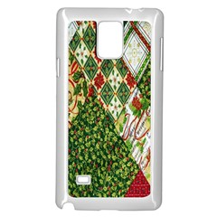 Christmas Quilt Background Samsung Galaxy Note 4 Case (white)
