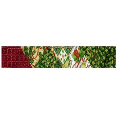 Christmas Quilt Background Flano Scarf (large)