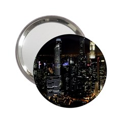City At Night Lights Skyline 2.25  Handbag Mirrors