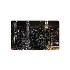 City At Night Lights Skyline Magnet (Name Card)