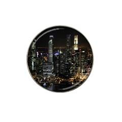 City At Night Lights Skyline Hat Clip Ball Marker (4 pack)