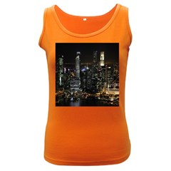 City At Night Lights Skyline Women s Dark Tank Top