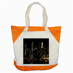 City At Night Lights Skyline Accent Tote Bag