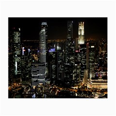 City At Night Lights Skyline Small Glasses Cloth (2-Side)