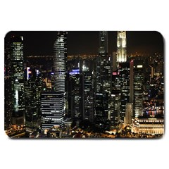 City At Night Lights Skyline Large Doormat