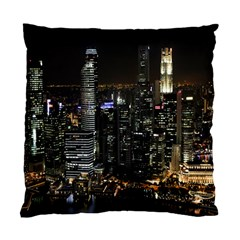 City At Night Lights Skyline Standard Cushion Case (Two Sides)