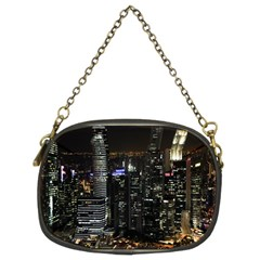 City At Night Lights Skyline Chain Purses (Two Sides)