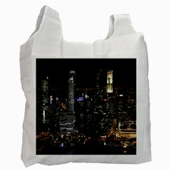 City At Night Lights Skyline Recycle Bag (Two Side)