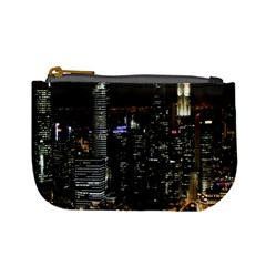 City At Night Lights Skyline Mini Coin Purses