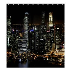 City At Night Lights Skyline Shower Curtain 66  x 72  (Large)