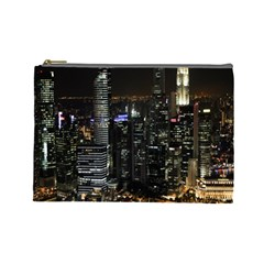 City At Night Lights Skyline Cosmetic Bag (Large)