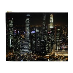City At Night Lights Skyline Cosmetic Bag (XL)