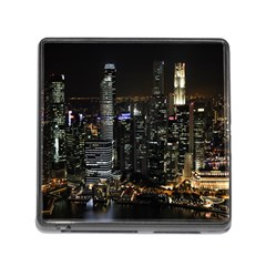 City At Night Lights Skyline Memory Card Reader (Square)