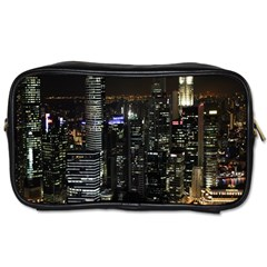 City At Night Lights Skyline Toiletries Bags