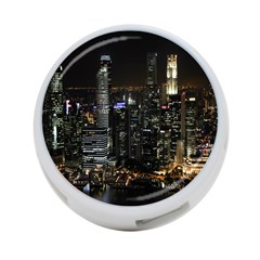 City At Night Lights Skyline 4-Port USB Hub (One Side)