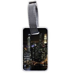 City At Night Lights Skyline Luggage Tags (One Side)