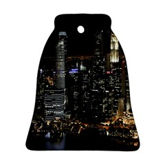 City At Night Lights Skyline Bell Ornament (Two Sides)