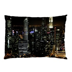 City At Night Lights Skyline Pillow Case (Two Sides)