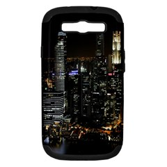 City At Night Lights Skyline Samsung Galaxy S III Hardshell Case (PC+Silicone)