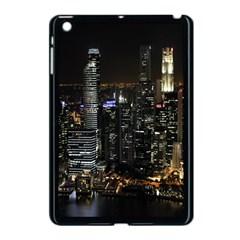 City At Night Lights Skyline Apple Ipad Mini Case (black)