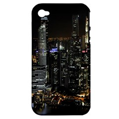 City At Night Lights Skyline Apple iPhone 4/4S Hardshell Case (PC+Silicone)