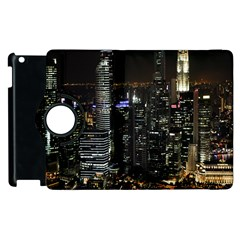 City At Night Lights Skyline Apple iPad 3/4 Flip 360 Case