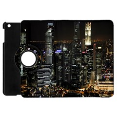 City At Night Lights Skyline Apple iPad Mini Flip 360 Case