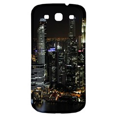 City At Night Lights Skyline Samsung Galaxy S3 S III Classic Hardshell Back Case