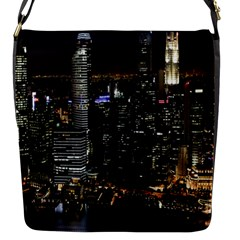 City At Night Lights Skyline Flap Messenger Bag (S)