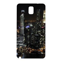 City At Night Lights Skyline Samsung Galaxy Note 3 N9005 Hardshell Back Case