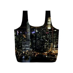 City At Night Lights Skyline Full Print Recycle Bags (s)